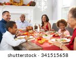 family with grandparents... | Shutterstock . vector #341515658
