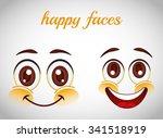 smiley faces design  vector... | Shutterstock .eps vector #341518919