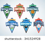 sport team logo emblems  badge  ... | Shutterstock .eps vector #341524928