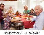 family with grandparents... | Shutterstock . vector #341525630