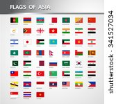 flags of asia | Shutterstock .eps vector #341527034