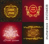 collection elegant cards with... | Shutterstock .eps vector #341536838