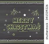 christmas greeting card. | Shutterstock .eps vector #341539226