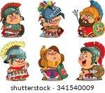 cartoon. vector.  set funny... | Shutterstock .eps vector #341540009