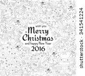 christmas greeting white card... | Shutterstock .eps vector #341541224