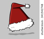 santa hat  vector illustration. | Shutterstock .eps vector #341542748