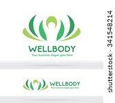 well body fitness logo ... | Shutterstock .eps vector #341548214