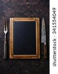 vintage slate chalk board... | Shutterstock . vector #341554049