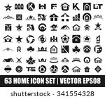 home logo set. vector logo set. | Shutterstock .eps vector #341554328