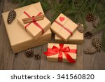 christmas composition with... | Shutterstock . vector #341560820