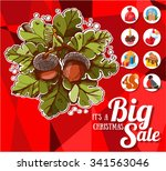 christmas big sale  vector... | Shutterstock .eps vector #341563046