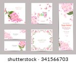 collection of greeting cards... | Shutterstock .eps vector #341566703