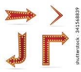 arrow sign with bulbs   Shutterstock .eps vector #341568839