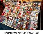 christmas market in prague.   Shutterstock . vector #341569250