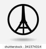 pray for paris  | Shutterstock .eps vector #341574314