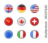 vector illustration of round... | Shutterstock .eps vector #34157620
