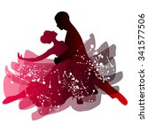 man and woman dancing tango.... | Shutterstock .eps vector #341577506