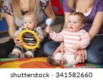 mothers and babies at music... | Shutterstock . vector #341582660