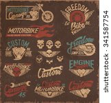 vintage motorcycling quality... | Shutterstock .eps vector #341587754