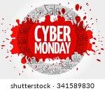 cyber monday word cloud ... | Shutterstock .eps vector #341589830