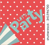party card happy new year... | Shutterstock .eps vector #341596700