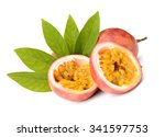 passion fruit on a white... | Shutterstock . vector #341597753