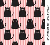 cute cats seamless pattern | Shutterstock .eps vector #341599634