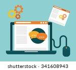 blog  blogging and blogglers... | Shutterstock .eps vector #341608943