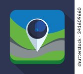gps concept with  buttons icons ...   Shutterstock .eps vector #341609660