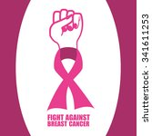 breast cancer concept with... | Shutterstock .eps vector #341611253