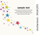 vector star background design | Shutterstock .eps vector #34161292
