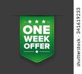 one week offer ribbon vector | Shutterstock .eps vector #341619233