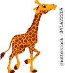 cute giraffe cartoon | Shutterstock .eps vector #341622209