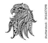 zentangle stylized head of... | Shutterstock .eps vector #341637098