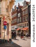 amsterdam classic street corner ... | Shutterstock . vector #341659514