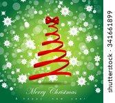 christmas background   vector... | Shutterstock .eps vector #341661899