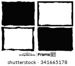grunge frame texture set  ... | Shutterstock .eps vector #341665178