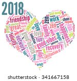 happy new year 2018 vector with ... | Shutterstock .eps vector #341667158