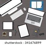 table  working  businees ... | Shutterstock .eps vector #341676899