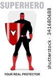 superhero. superhero holding a... | Shutterstock .eps vector #341680688
