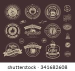 set of vintage retro coffee... | Shutterstock .eps vector #341682608