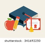 graduation concept with... | Shutterstock .eps vector #341692250