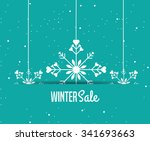 winter sale design  vector... | Shutterstock .eps vector #341693663