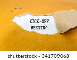 Small photo of Kick-off meeting Message on brown envelope