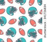 hand drawn seamless pattern... | Shutterstock .eps vector #341726834