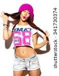 high fashion look.glamor... | Shutterstock . vector #341730374