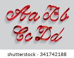 ribbon typography font typeface ... | Shutterstock .eps vector #341742188