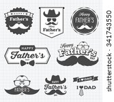 happy father's day labels logo... | Shutterstock .eps vector #341743550