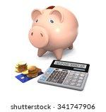 piggy bank  electronic...   Shutterstock . vector #341747906