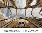 the ruins of the carmo church... | Shutterstock . vector #341769569